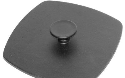 Pressdeckel aus Gusseisen 21cm quadratisch Deckel Presse