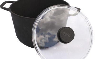 Kochtopf aus Gusseisen 6L mit Glass-Deckel