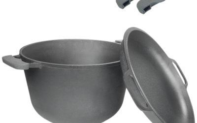 Kochtopf aus Gusseisen 3L mit Deckel-Bratpfanne